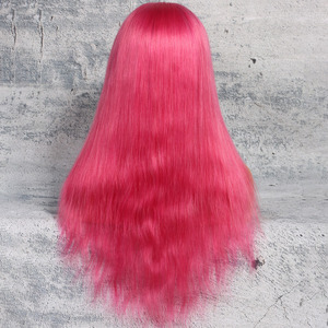 Premier Factory Free Shipping BEST Selling Top Quality Custom 100% Unprocessed Pink Full Lace Human Hair Wig