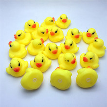 Cute Lovely Yellow Duck Baby Bath Toys Squeaky Rubber Ducks Bath Toys Children Water Swimming Fun Playing Toy