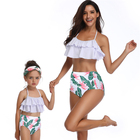 Parents-Child Two Piece Sexy Swimsuit Family Matching Swimsuit Swimwear Boy Beach Shorts And Girl Bikinis