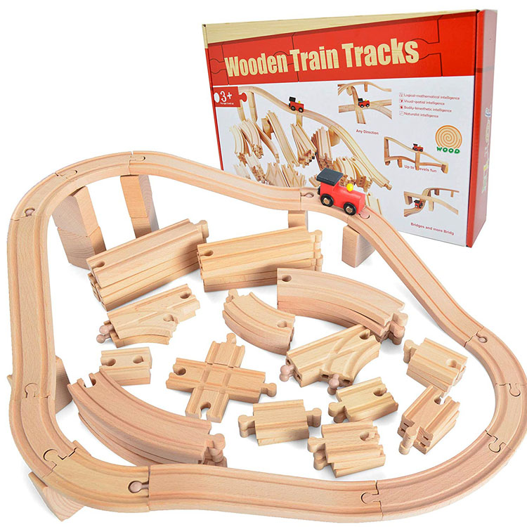 Early education puzzle wooden assembled train blocks kindergarten children wooden toys
