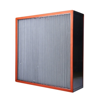 Direct sale high efficiency filter stainless steel H13 H14 Glassfiber paper high temperature resistant hepa filter