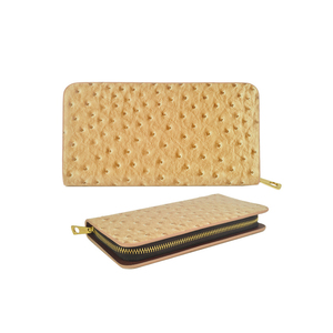 HEC Wholesale Customized Beige Blue Brown PU Leather Material Clutch Wallets Buyers