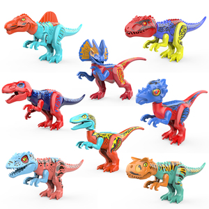 Plastic Dinosaur Building Blocks Dinosaur Figure Toys Animal Model Educational Blocks compatible Legoing