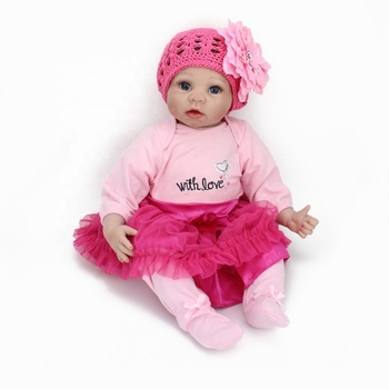 507c553641d66 Hot selling NPK DOLL Silicon Reborn Babies Doll Magnetic Nipple Soft 22  inch Newborn Lifelike Dolls