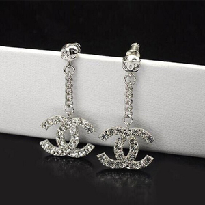 Vintage White Studs silver Earrings Rhinestones Dangle Charms Hoops For Women Girls