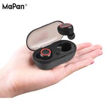 MaPan 2019 Amazon Hot Sell Sport neckband stereo music handsfree TWS True Wireless Bluetooth earbuds Headphone Earphone