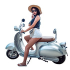 2019 EEC COC vespa gts vintage electric vespa scooter Retro Italy style e motorcycle with removable lithium battery
