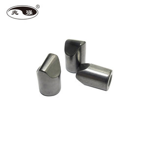 Tungsten carbide button for DTH mining bits