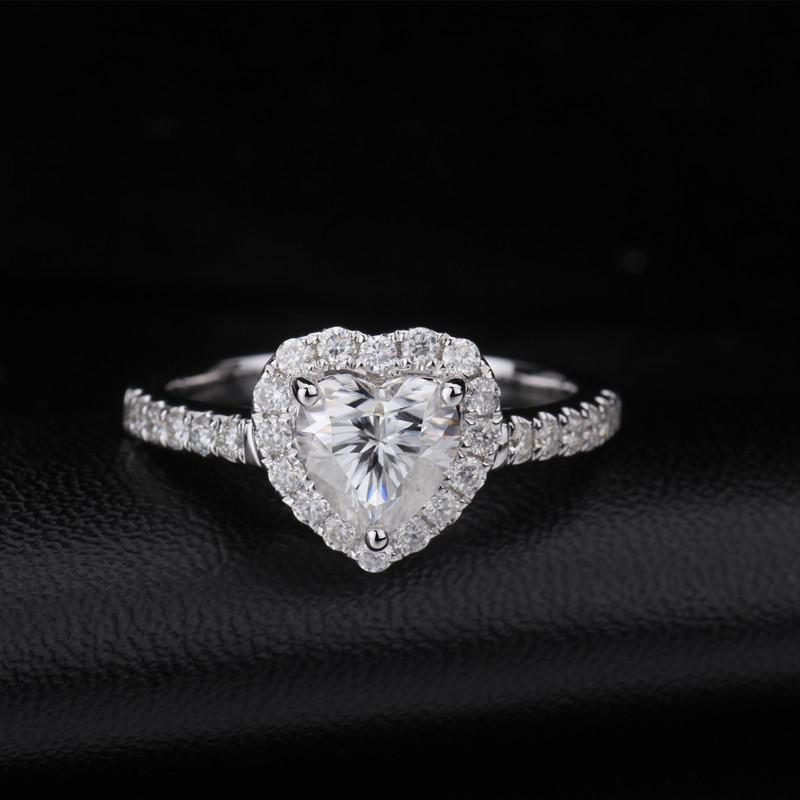 Starsgem 14k white gold ring white gold moissanite ring gold wedding rings