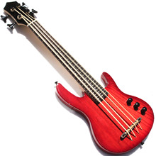 MiNi 4 string elektrische <span class=keywords><strong>ukulele</strong></span> bas met rode <span class=keywords><strong>kleur</strong></span>