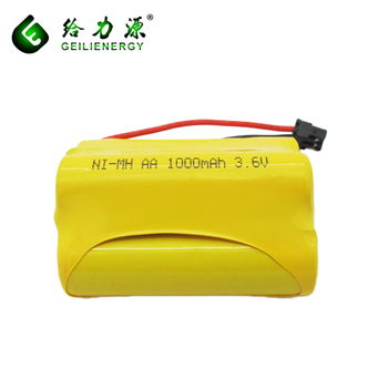 3.6v 1000mAh NI-MH rechargeable aa wholesaler battery Pack for cordless phone