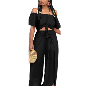 2019 New Fashion Popular Women Casual Clothes Two Piece Set Pants