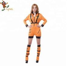 30d699eb0991 De Halloween Cosplay parte Sexy traje espacial adultos traje de mono  astronauta uniformes para las mujeres