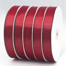 "도매 custom 2.5 cm 1 ""red color polyester satin ribbon 대 한 장식"