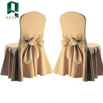 2017Cheapest ruffled wedding chair cover with bow