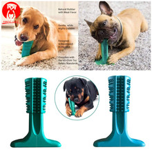 Pet Dog Puppy Natuur Rubber Tandenborstel Kauwen Stok Dental Chewer Oral Care tanden cleaning kit HOND Tandarts BIJGEWERKT