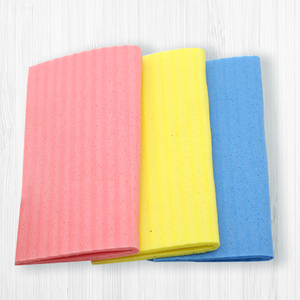 Custom colorful household kitchen cleaning cellulose sponge cloth