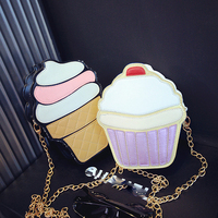 3D Womens Handbags Korean Summer New Personality Fashion Ice Cream Cake Bag Casual Bag Design Women Handbags