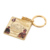 Personalized customization real gold plated color spray Memorial history Keychain
