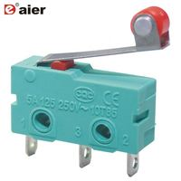 5A 3 Pin Momentary Roller KW4 Micro Switch With Solder Terminal