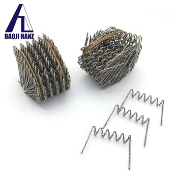 99.95% purity twisted spiral tungsten wire for vacuum coating