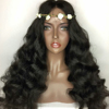 Wholesale high density lace front wigs loose wave extensions 100% mink clip in hair virgin half wig human hair
