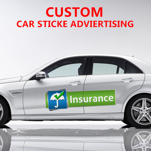 Vinyl Printed Die Cut Transparent Car Side Doors Graphics Advertising Custom Stickers Decals Wrap Custom car Wrap Vinyl