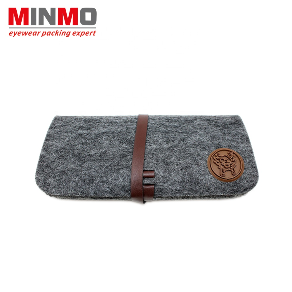 Logo customized 선글라스 soft case, felt material soft case, 경량 패션 soft case