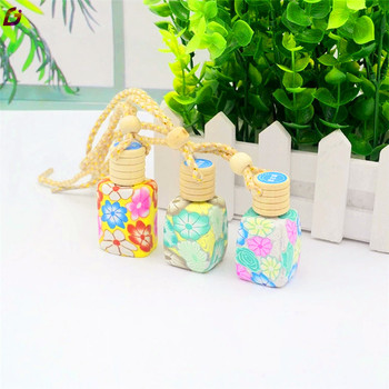 Colored round small car perfume glass bottle