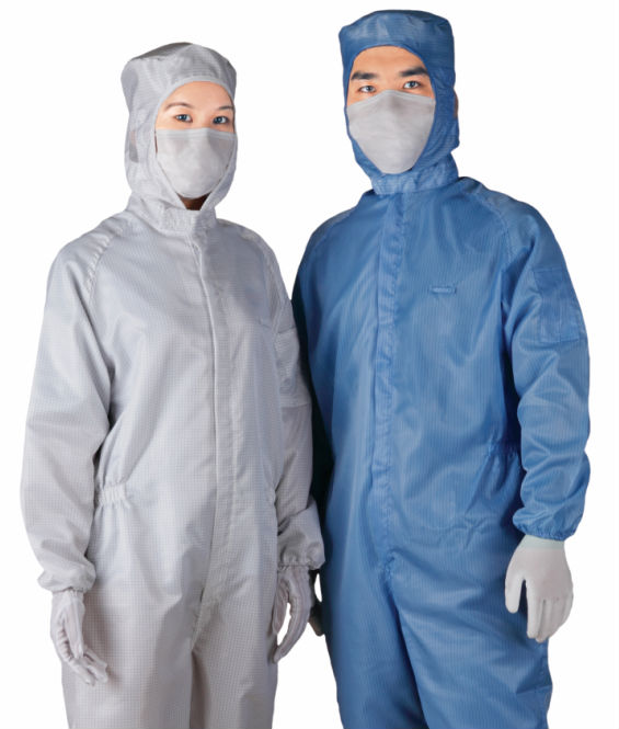 Factory supplying ESD polyester overall uniforms for cleanroom staff and workers