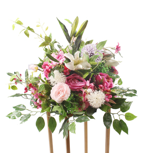 Fancy artificial fabric lily road lead flower for wedding decoration