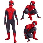 Ready To Ship Kids Spider-Man Far From Home Zentai Superhero Spider-man Boys Cosplay Tights Bodysuit Jumpsuit