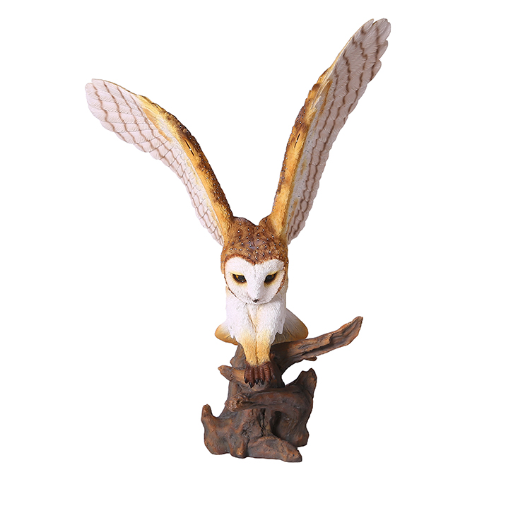 Vivid resina gufo statua scultura animale gufo figurine per outdoor garden decor