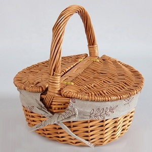 High quality natural willow picnic basket