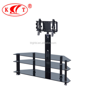 Hot Sale Living Room Furniture with Clip Classic Design Black Glass TV Stand