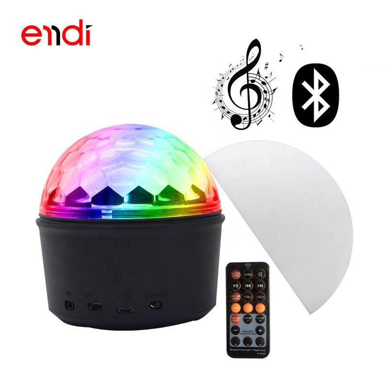 ENDI new design 9 color magic ball led children night light with mini bluetooth speaker for home ktv disco club and party