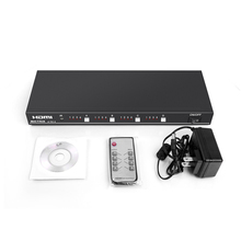 1080 จุด 4 in 4 out HDMI สวิทช์ HDMI 4x4 Matrix EDID/RS232/IR
