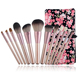 Cosmetic Makeup Wholesale Synthetic Hair 12pcs Professional Makeup Brush Set With Pu Pouch