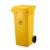 100 liter yellow big size plastic dustbin with wheels