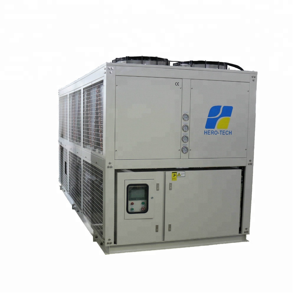 60TR dual compressors air cooled screw water chiller 80hp