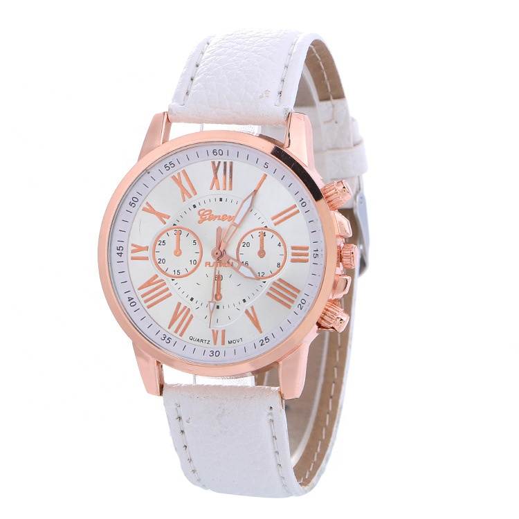 Factory Price Quartz Analog Leather Geneva <strong>Wrist</strong> <strong>Watches</strong> <strong>For</strong> <strong>Women</strong>