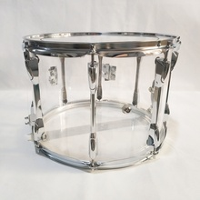 Clear Acryl snare marching drum 14 inch