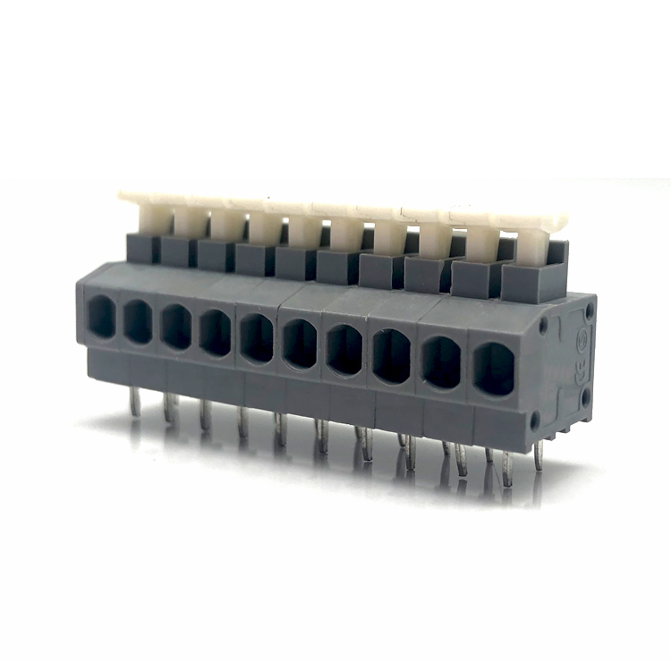 235-5.0 Screwless spring cage terminal block 20-14AWG