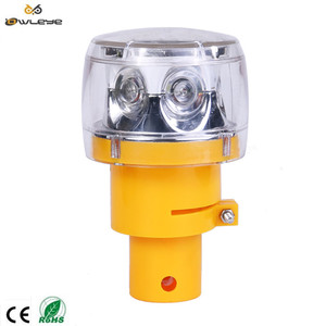 Solar LED Traffic Warning Yellow/Red Flashing Lights Barricade Lamps For Road Safety use on traffic Cone Or traffic Barrier