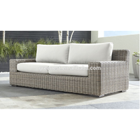 High quality poly rattan outdoor garden two seater sofa