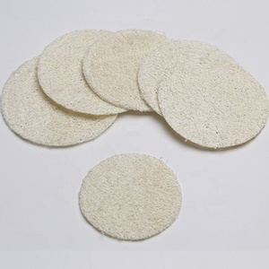 Wholesale custom round loofah slice natural loofah sponge for face