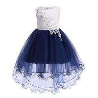 Factory Sells Directly Cross-border Embroidered Princess Children Mesh Girl Clothing Dress For Kids