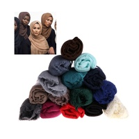 Top Quality Stock 70 Colors Wholesale Plain White Cotton Scarves With Great