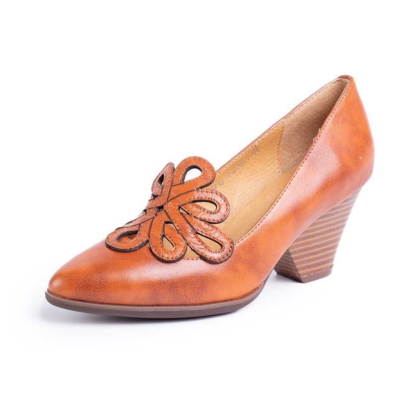 add2d76b6b9739 En gros Chaussures À Talons Hauts Femmes En Cuir, Bout Pointu Femmes  Chaussures habillées
