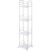 4 layer popular wall mounted bathroom accessory organizer shelf rack shower shampoo storage rack wire rack with tray